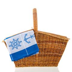 Picnic basket at the boat