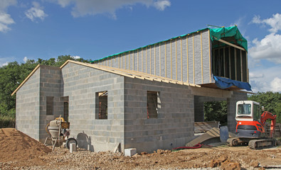 chantier de construction d'une maison