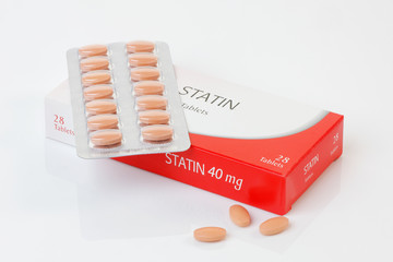 Pack of Statins - anti cholesterol drugs