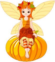 Autumn fairy girl