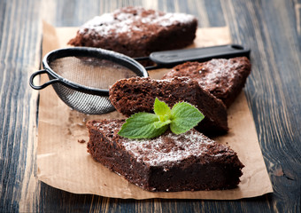 Cake chocolate brownie