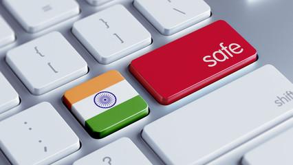 India Safe Concept