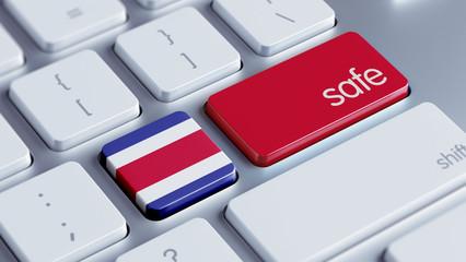 Costa Rica. Safe Concept