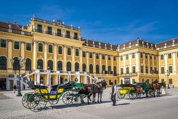 Schloss Schönbrunn mit Fiaker