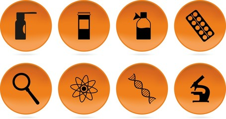 black orange science icons par t2