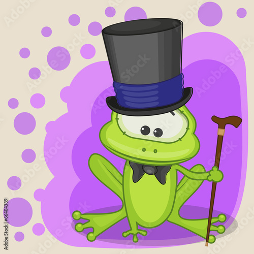 Frog in a hat - 66404389