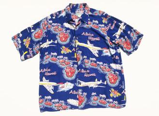 Hawaiian shirt, white background