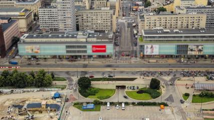 City Traffic Time Lapse Warsaw
