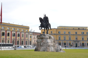 Scanderbeg Statue