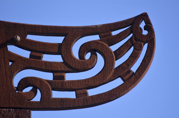 Maori  culture - wood curving