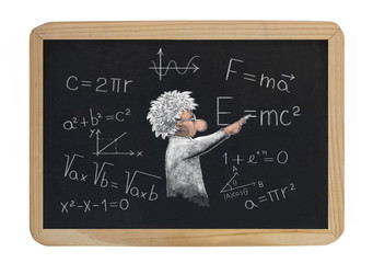 formulas on the blackboard