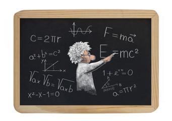 formulas on the blackboard