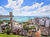 Lacerda Elevator and All Saints Bay in Salvador, Bahia, Brazil - Fine Art prints