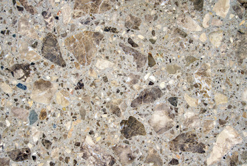 Slabs with pieces of stone closeup