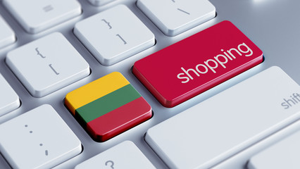 Lithuania Shopping Concept