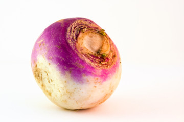 Turnip on a white background