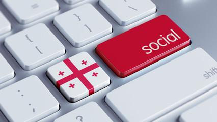 Georgia Social Concept