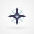 Blue minimal compass - 66407509