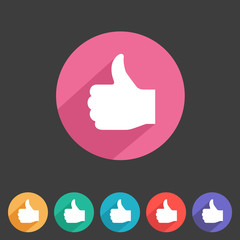 Flat game graphics icon thumbs up