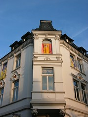 Fassade des Stadthotel in Oerlinghausen im Teutoburger Wald