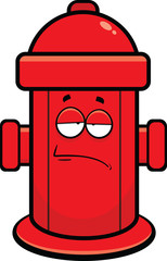 Cartoon Fire Hydrant Tired