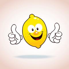 lemon mascot cartoon character