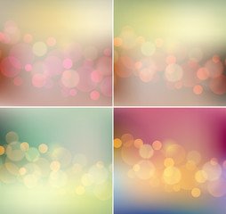 Vector soft  light blurred background retro color