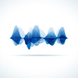Fototapety Vector audio & sound waves background