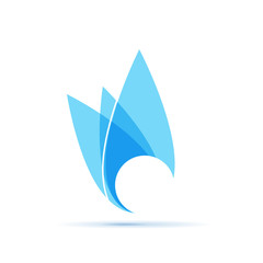 Vector Logo natural gas. Abstract shape