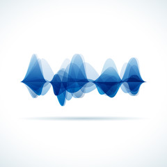 Vector audio & sound waves background