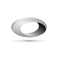 Vector Logo metal pipe, hole. Abstract shape