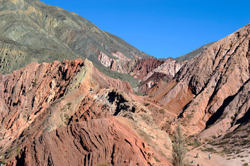Colorful valley of Quebrada de Humahuaca, central Andes