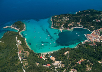 Aerial view of Paxos island