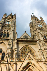 Basilica of the National Vow in Quito Ecuador
