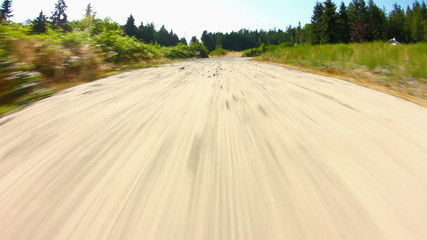 Driving Gravel Road Fisheye