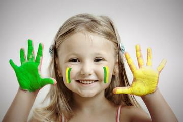 Bambina tifosa brasiliana