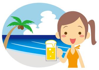 夏 爽やか生ビール