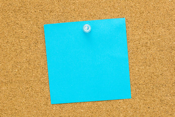 Blue blank post it paper