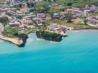 Aerial view on Sidari in Corfu Kerkyra