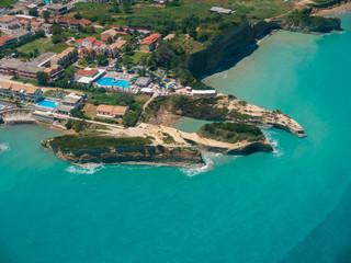 Aerial view on Sidari in Corfu Kerkyra