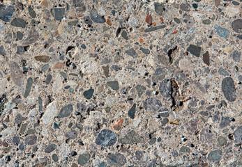 Colored pebbles pavement background