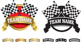 Fototapety Badge, symbol or icon on white for motor racing
