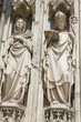 Statues at the famous Votivkirche in Vienna