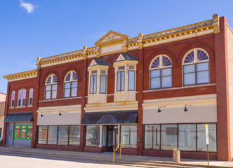 Restored Storefronts in Midwestern Small Town
