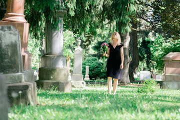 Walking in Cemetery