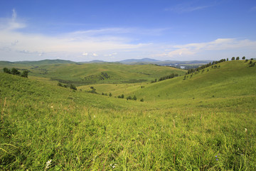 Beautiful summer landscape of the Altai mountains.