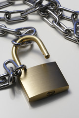 Pad lock and chain
