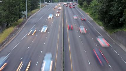 Freeway Traffic Time Lapse