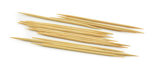 Many of the toothpick on a white background