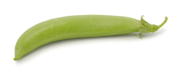 Green peas vegetable, isolated on white background